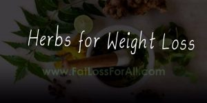 Natural weight loss with herbs